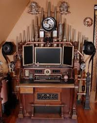 Steampunk Home Decorating Ideas 28 Crazy Steampunk Home Office Designs Digsdigs