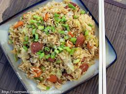kitchen simmer asian cabbage and kielbasa fried rice