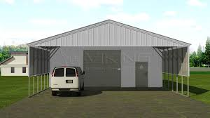 Garage With Carport 30x41 Utility Carport Building