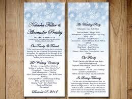 tea length wedding program winter wedding program template snowflake showers