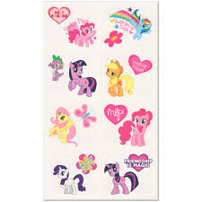 my little pony friendship tattoos 16ct click on thumbnail to zoom