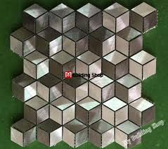 Metal Wall Tiles Kitchen Backsplash 3d Metal Mosaic Stainless Steel Tile Backsplash Smmt094 Metallic