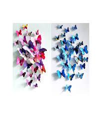 deco chambre papillon 12 stickers muraux papillon 3d déco chambre enfant salon table solenzo