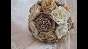 silk bridal bouquets artificial wedding flowers foam silk bridal brides bouquet flowers
