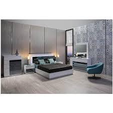 Manhattan Bedroom Furniture Manhattan White Mirrored Platform Bed El Dorado Furniture