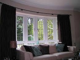 bow window blinds decor window ideas