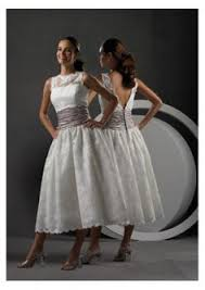 short wedding dress tea length lace wedding by lemonweddingdress