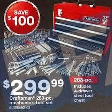 black friday tool chest black friday ads 2014 craftsman 283 pc mechanics tool set w