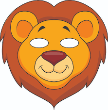 lion mask for kids mask lion kit or ready to wear great for