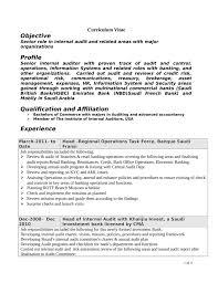 resume internal auditor bank executive resume samples