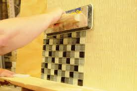 How Do You Install Glass Tile Backsplash by Glass Tile Diy Yes You Can Install Your Own Backsplash With