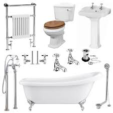 traditional bathroom suites victorian plumbing uk kensington traditional complete roll top bathroom package 1700mm medium image