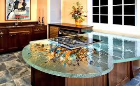 Stones For Kitchen Countertops Art Deco Style Theme With Water Like Glass Kitchen Countertops
