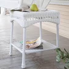 amazon com coral coast casco bay resin wicker side table