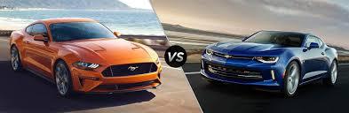 ford mustang chevy camaro 2018 ford mustang vs 2018 chevy camaro