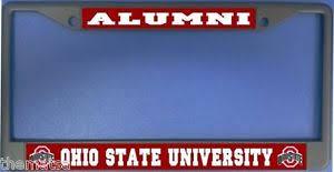 ohio alumni license plate frame ohio state alumni chrome metal usa made license plate