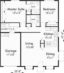 main floor plan for d 353 one story duplex house plans 3 bedroom