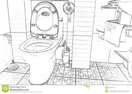 Bathroom Clipart Bathroom Clipart Black And White Pencil And In Color Bathroom