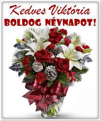 névnap viktória szép virágcsokor karácsonyi virág képek