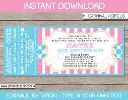 Funeral Invitation Sample Carnival Party Ticket Invitations Template Carnival Or Circus