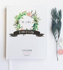 Wedding Wishes Book Custom Succulent Wreath Wedding Guest Book Features Succulents
