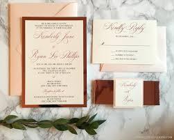 wedding invitations rose rose gold mirrored wedding invitation blush and rose gold