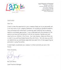 thank you from lapal nursery chameleon web services