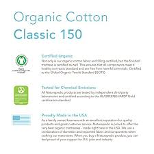 Naturepedic No Compromise Organic Cotton Classic 150 Crib Mattress Naturepedic No Compromise Organic Cotton Classic Crib