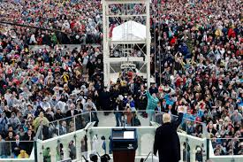 picture of inauguration crowd donald trump trolls media by hanging picture of inauguration crowd