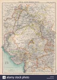 North India Map by North West British India Protestant Mission Stations Pakistan