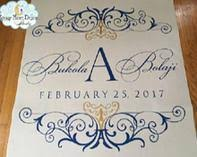 personalized wedding aisle runner starry design studio inc aisle runners