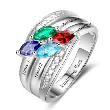 grandmothers ring 4 marquis gems mothers family ring or grandmothers ring