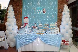 Winter Onederland Party Decorations Winter Wonderland Birthday Party Ideas Photo 1 Of 22 Catch My