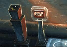 crockett fantasy of lights hake s gary ruddell original bud light beer promo poster painting