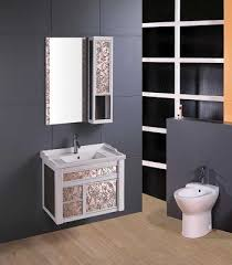 chinese manufacturer aluminum cabinet of glass bathroom vanity 45