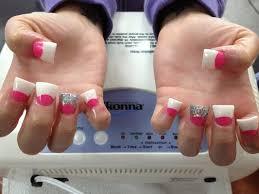 White Pink Nail White Silver Foil Powder Pink Glitter Nail Beds My Style