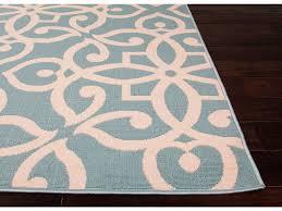Polypropylene Area Rugs Floor Coverings Jaipur Indoor Outdoor Geometric Pattern Blue Taupe