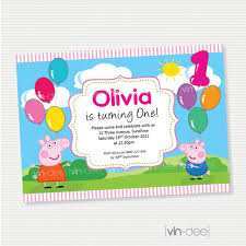 Create Birthday Invitation Cards Peppa Pig Birthday Invitations Kawaiitheo Com