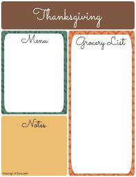 grocery list for thanksgiving dinner thanksgiving menu planner keeping life sane