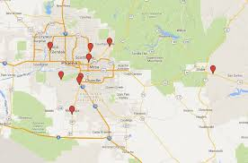 az city map map of all the casinos in the area