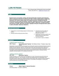 resumes for teachers examples resume example and free resume maker