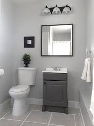 Bathroom Paint Ideas Pinterest by Small Garage Bathroom Painted Vanity U0026 Wall Behr Dolphin Fin