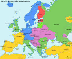 germany europe map the name for germany in various european languages maps inside map
