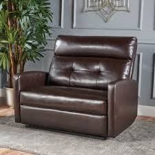 abbyson living bradford faux leather reclining sofa faux leather recliner chairs rocking recliners for less
