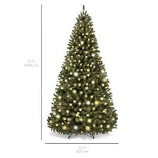 pre lit artificial christmas trees best choice products 7 5ft pre lit premium spruce hinged