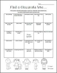 free printable find a classmate who icebreaker activity