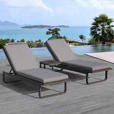 Patio Chaise Lounge Chair Shop Ove Decors Vienna 2 Count Aluminum Patio Chaise Lounge Chair