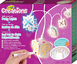 childrens bedroom fairy lights crayola creations make your own party lights craft kit amazon co