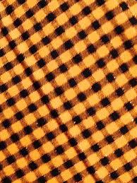 halloween fabric black and orange plaid fabric metallic thread