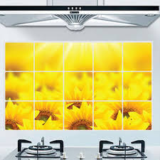 Home Decor Posters Aliexpress Com Buy Oil Proof Kitchen Sticker Name Sunflowers